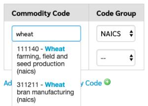 Commodity Code Sample